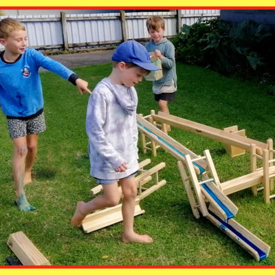 Wooden BUMPER Canals & Towers Set